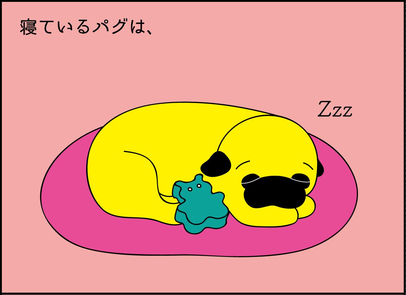 シュール【ほのぼの系Daily Comic/パグとわたし】