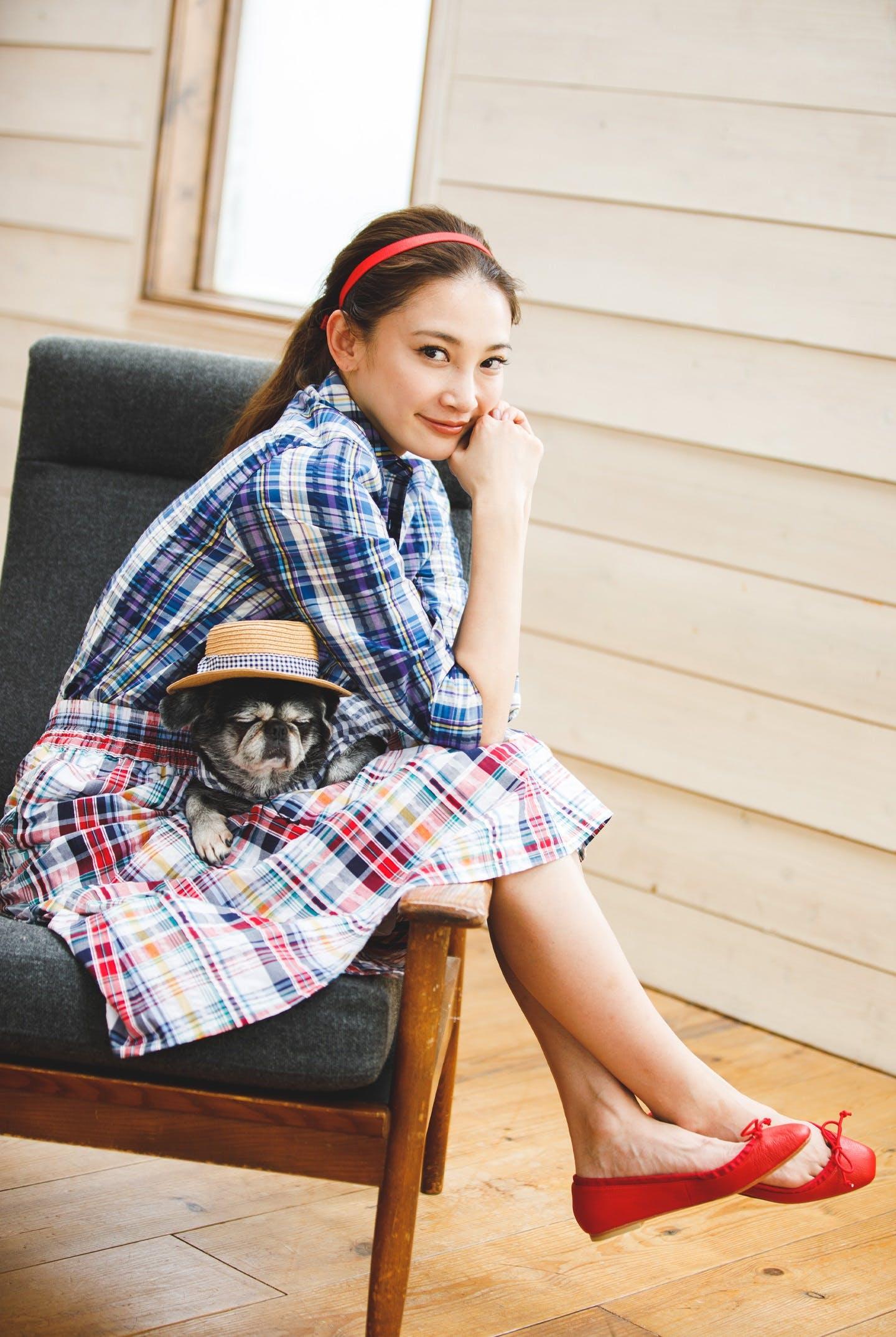 愛犬とリンクコーデ『チェック』
