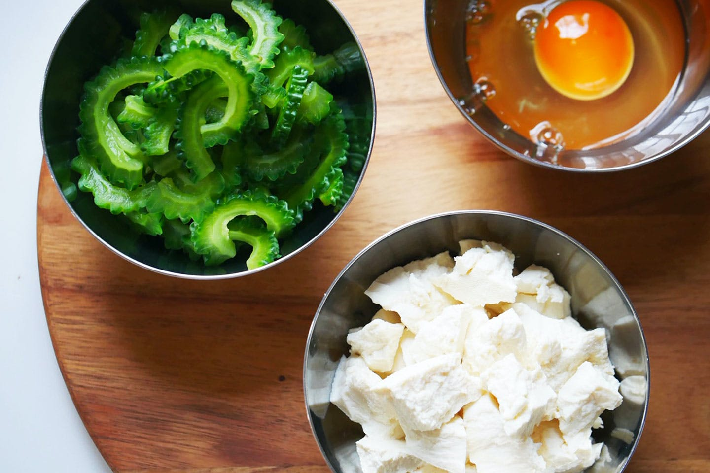 ゴーヤ 豆腐 卵