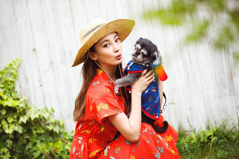 愛犬とリンクコーデ『リゾート』