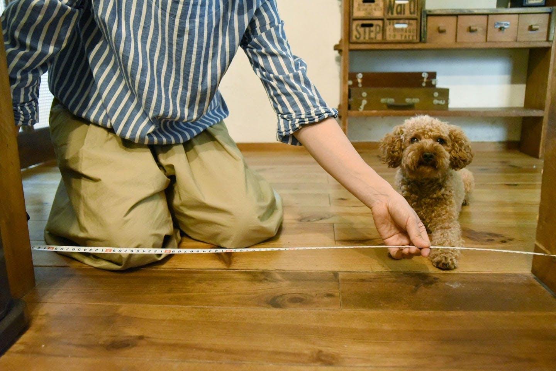 ペット用ゲートをDIY 間口の幅を測る