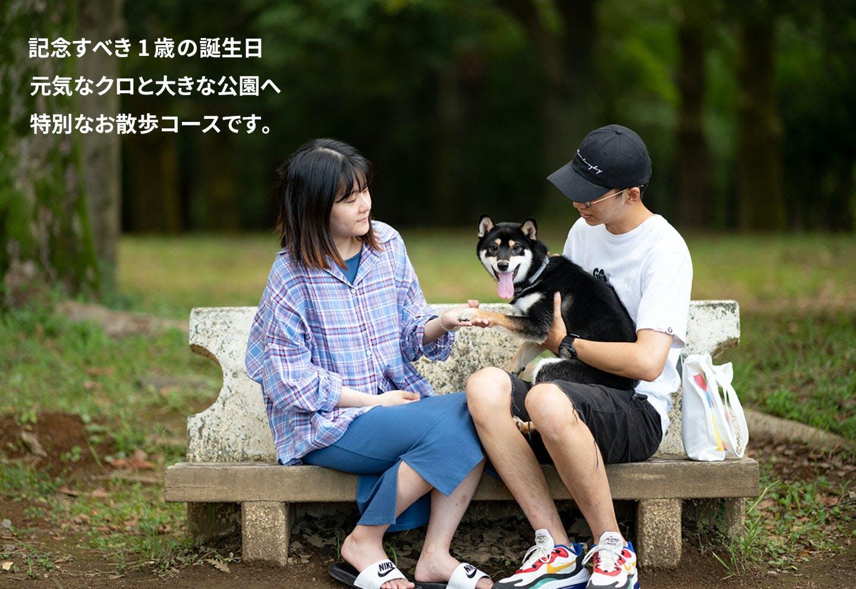 愛犬家の一日《WanScene94》周さん、武さん&クロ(柴犬)