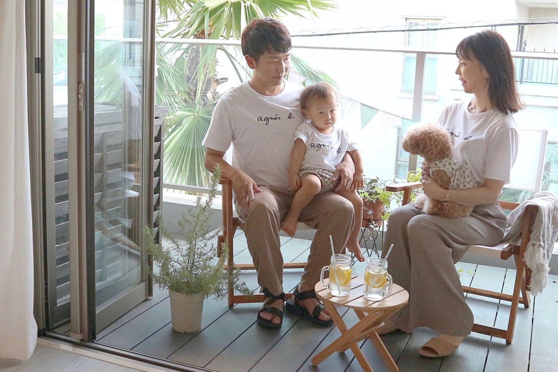 【わんこと暮らす家】ナチュラルで統一感のある北欧風リビング 神奈川に住む佐々木さんご家族
