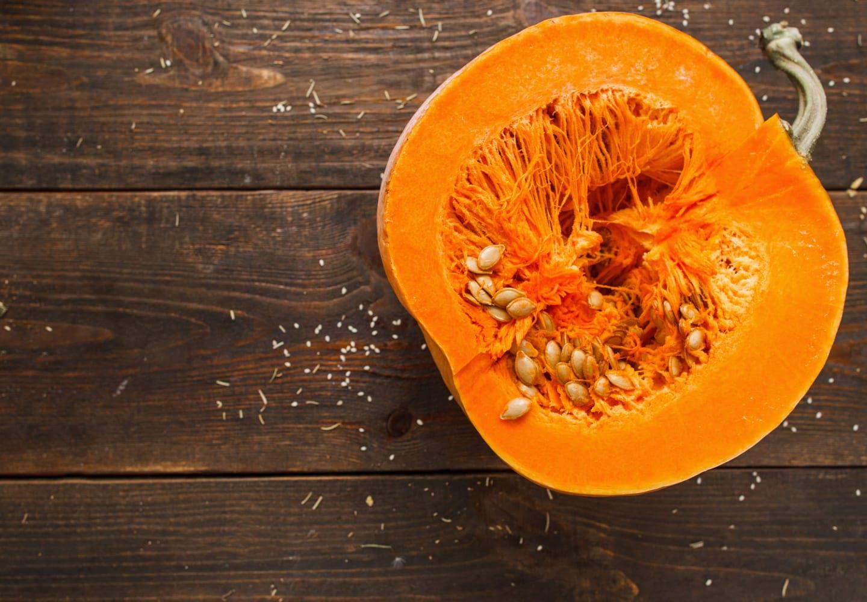 かぼちゃの断面