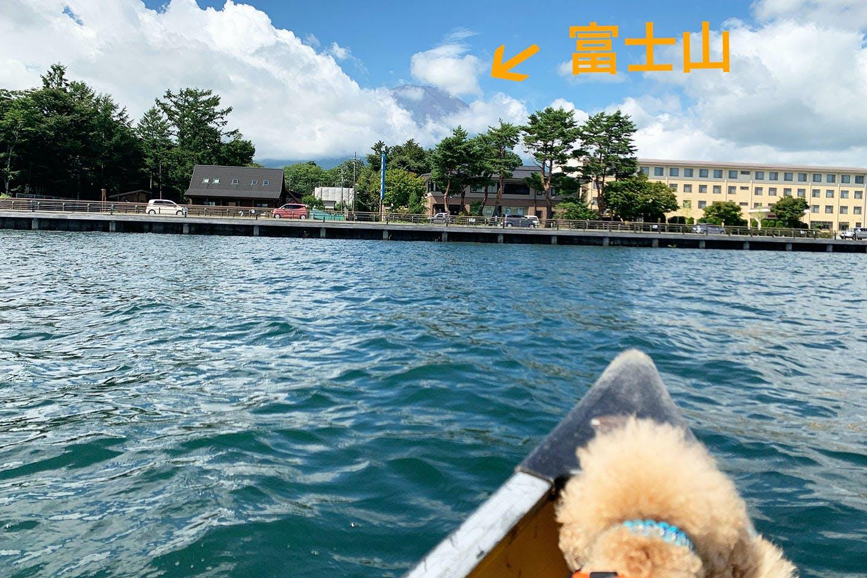 カヌーから見えた富士山