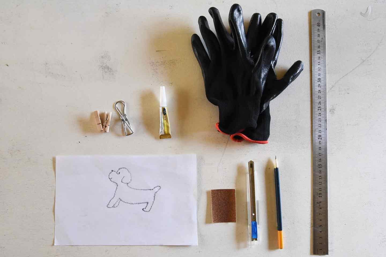 犬 クッキーの型の作り方 DIY