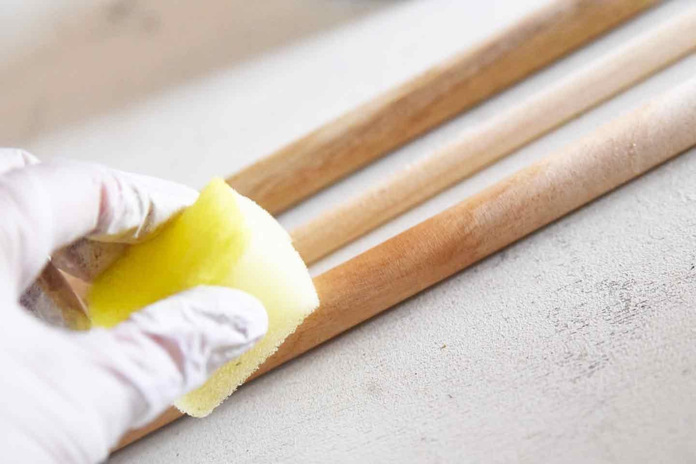 愛犬用ハンガーラック DIY 木材を塗装する