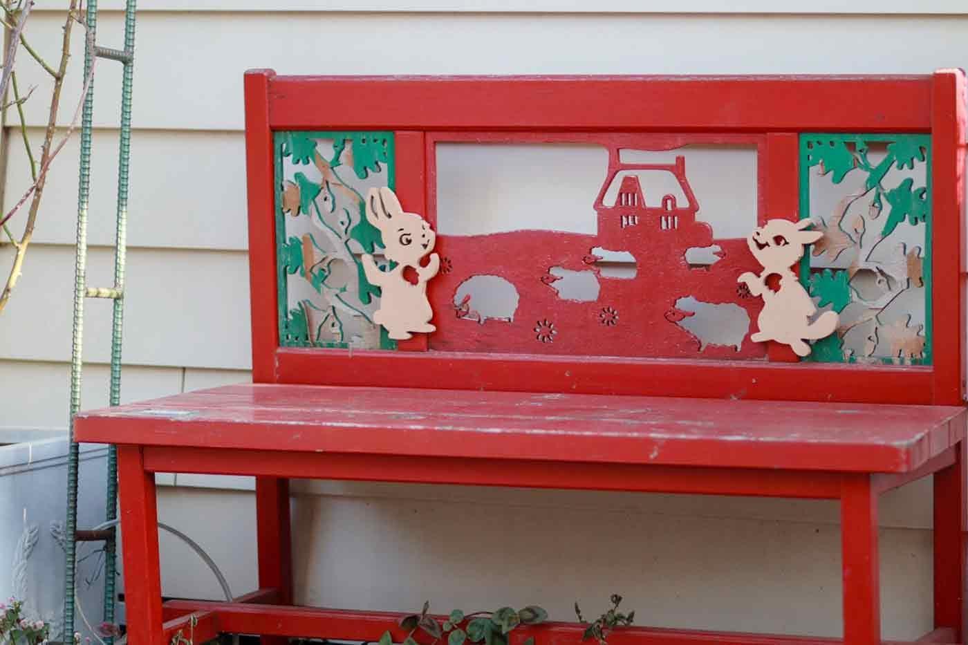 可愛いベンチ