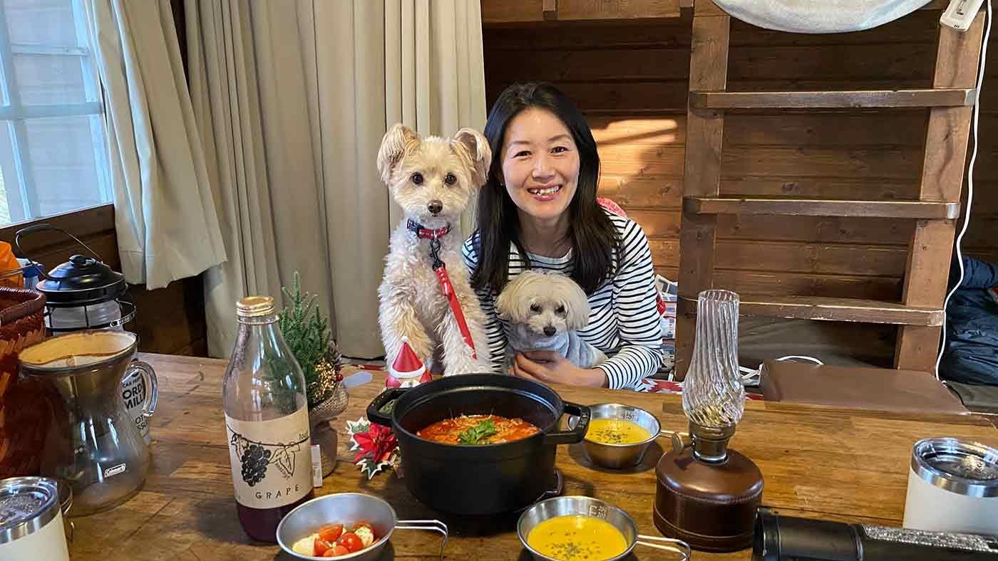 愛犬とクリスマスキャンプ 出発前の簡単朝食