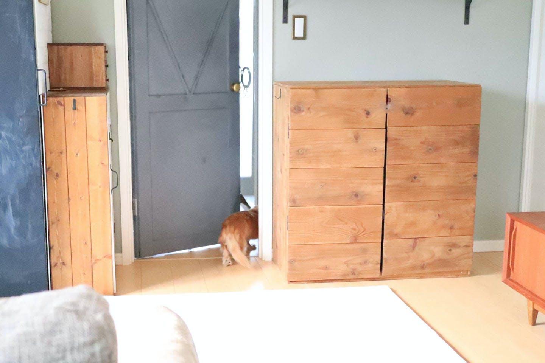 ペット用にドアをDIY