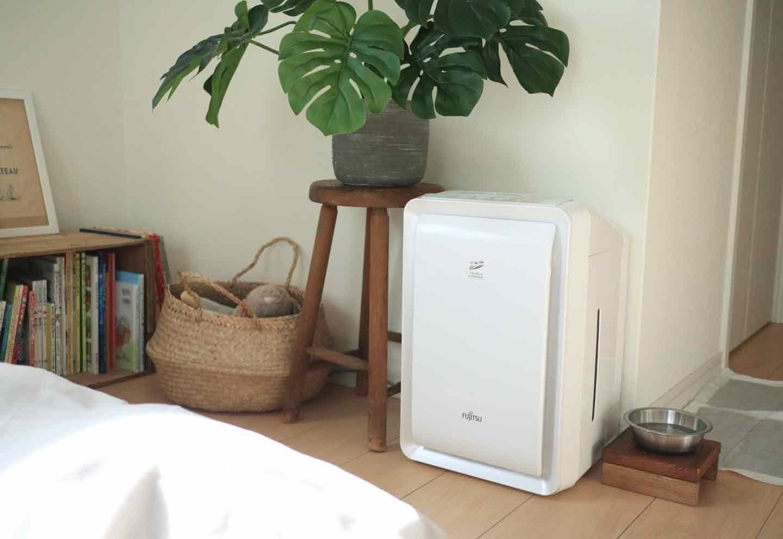 愛犬との寝室 空気清浄機