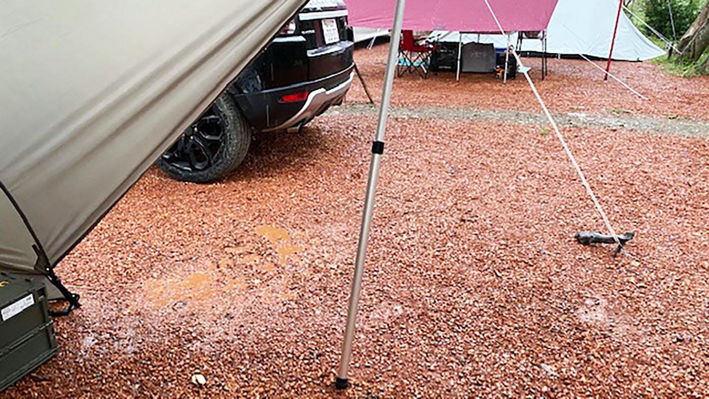雨が降ったキャンプ場