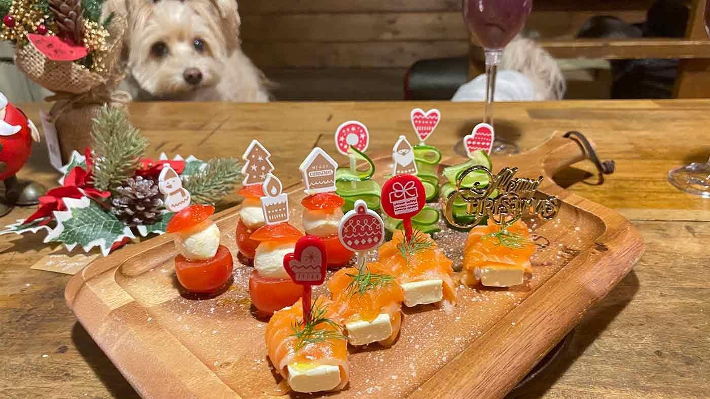 愛犬とクリスマスキャンプ クリスマスディナー