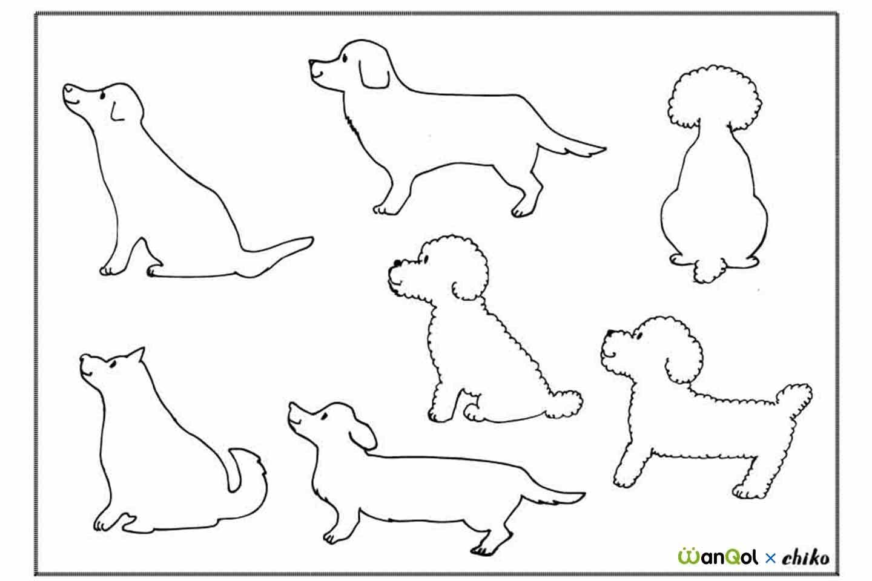 犬 クッキーの型の作り方 DIY 参考イラスト