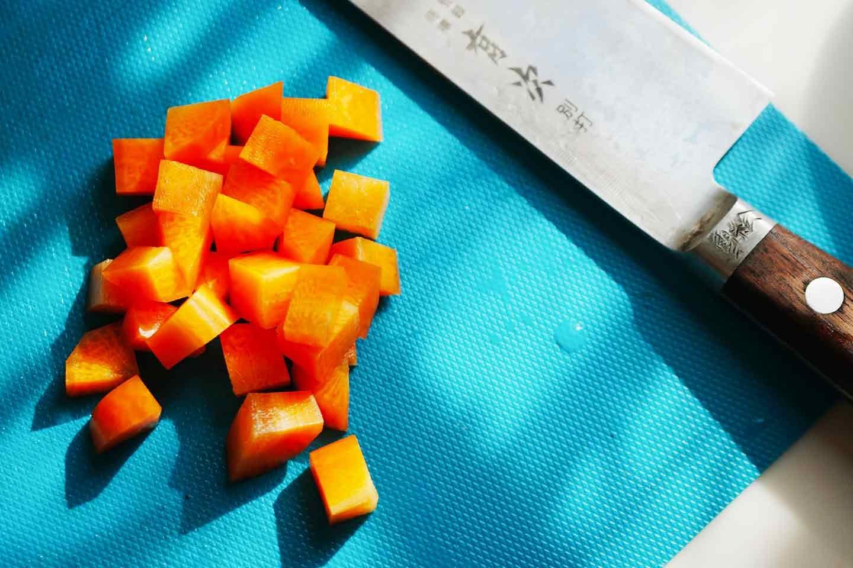 愛犬 時短レンチン野菜スープごはん  材料カット