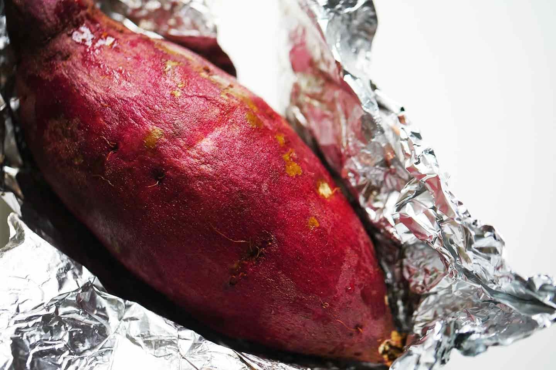 愛犬手作りごはんレシピ お子さまランチ サツマイモを焼く