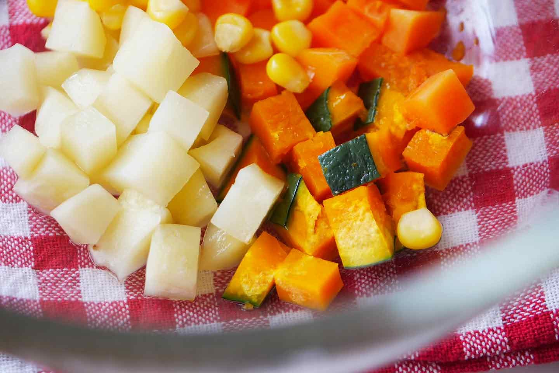 愛犬 時短レンチン野菜スープごはん レンジでチン