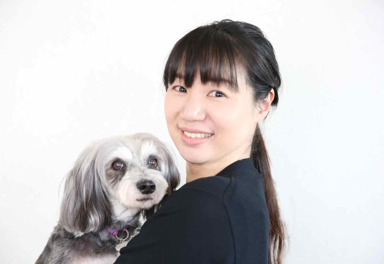ペット栄養管理士の黒川さん 愛犬シュナウザー