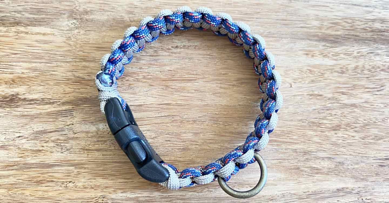 キャンパー パラコード編みの手作り首輪