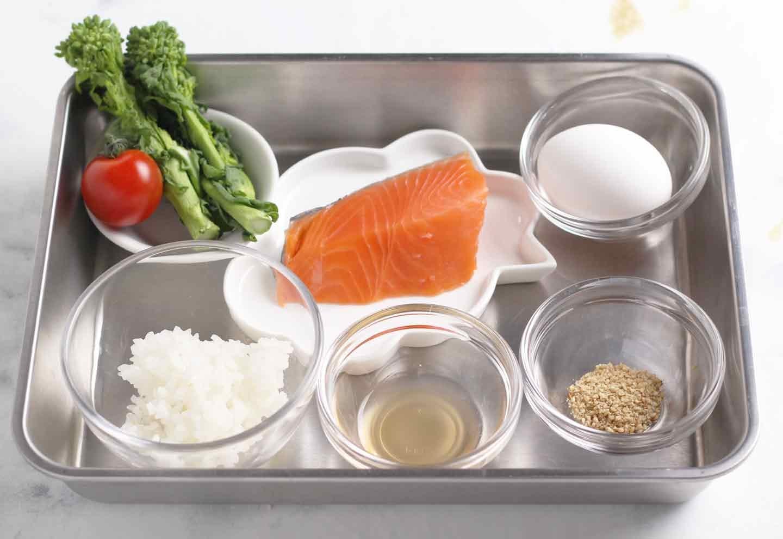 愛犬用 鮭と菜の花のちらし寿司レシピ 材料