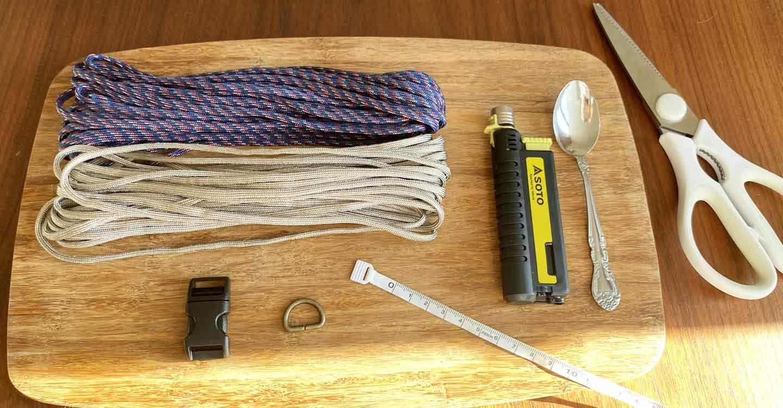 キャンパー パラコード編みの手作り首輪 材料・道具