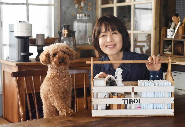 愛犬用収納ラックをDIY 衛生用品を仕舞う