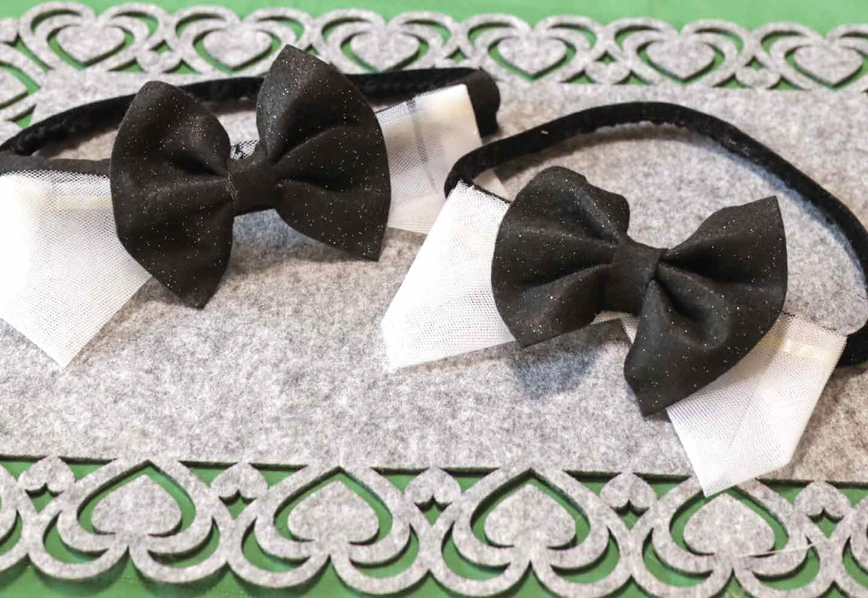 愛犬用蝶ネクタイの作り方