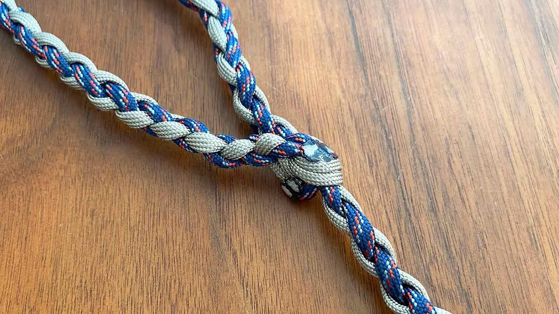 パラコード編みの犬用リード  完成