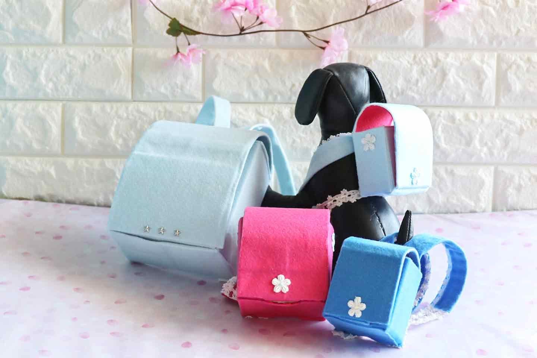 牛乳パックで愛犬用ミニランドセル風の小物入れ 超小型犬 小型犬 大型犬