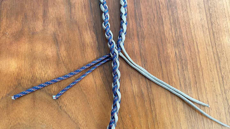 パラコード編みの犬用リード 作り方 持ち手を作る