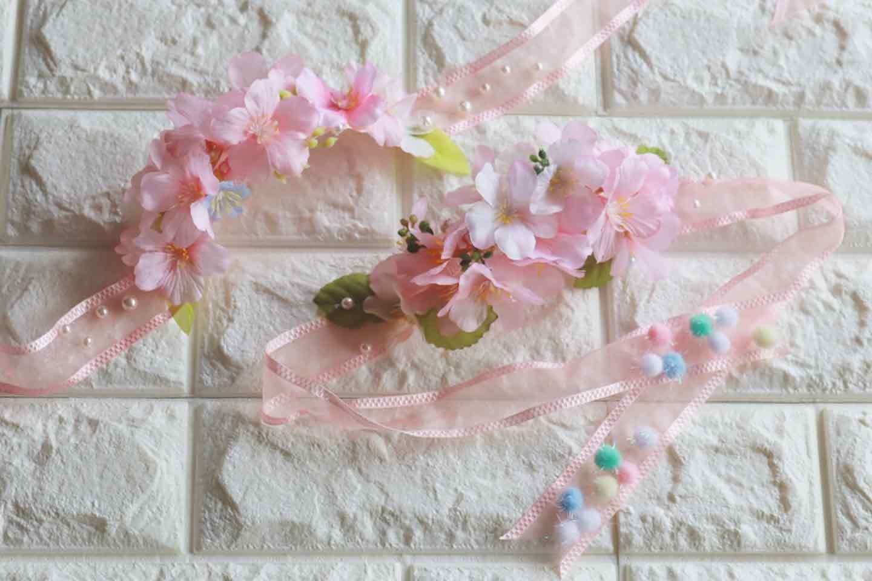 100均 桜 愛犬用の花飾り ハンドメイド
