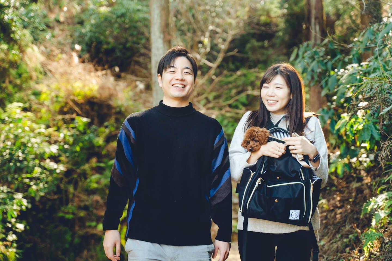 トイプードルのピノちゃんと藤澤夫婦