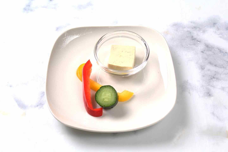 愛犬手作り健康ごはん 豆腐の彩りサラダ 材料