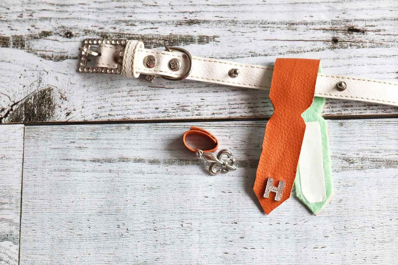 100均 愛犬用迷子札 ネームタグ ネクタイ型の作り方