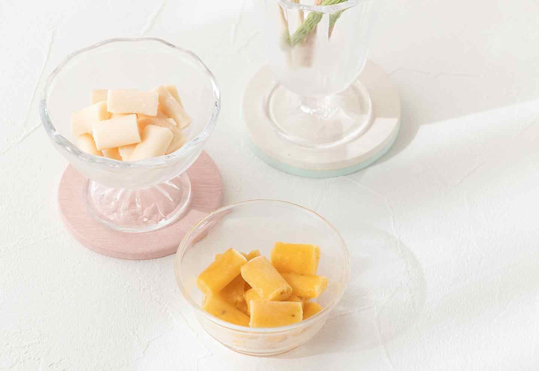 愛犬用キューブアイスの作り方 お皿に盛り付けて完成
