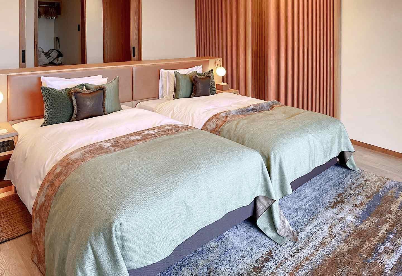 THE HIRAMATSU 軽井沢 御代田 シモンズの高級ベッド