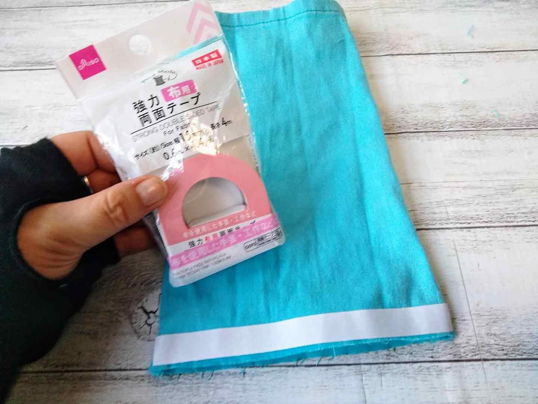 愛犬のお散歩用マナー(消臭)ポーチの作り方  パンツの裾をカットして袋状にする