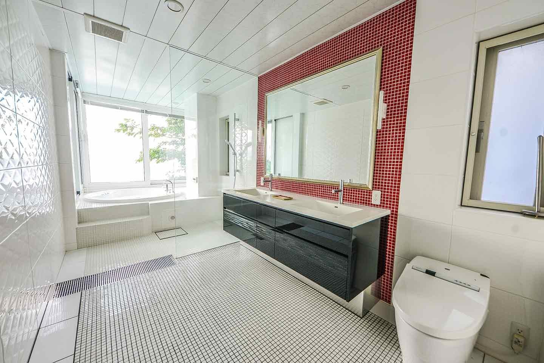 愛犬と泊まれる『THE HOUSE Koajiro』 『Bed and Bath』 バスルーム