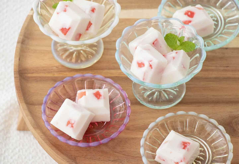 製氷皿を使った愛犬用スイカヨーグルトゼリー 完成