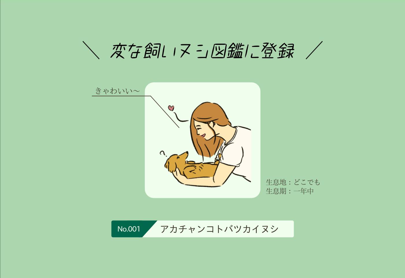 アカチャンコトバツカイヌシの生態《変な飼いヌシ図鑑001》