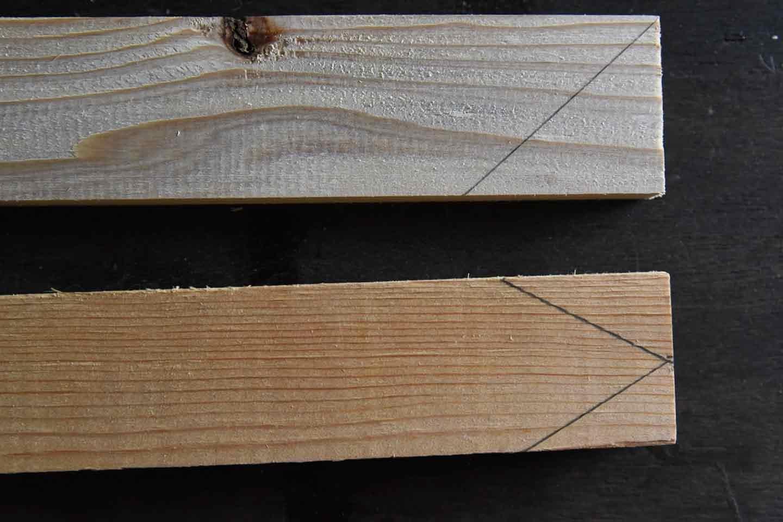 『わんこがいます!』ガーデンピックの作り方 木材をカット