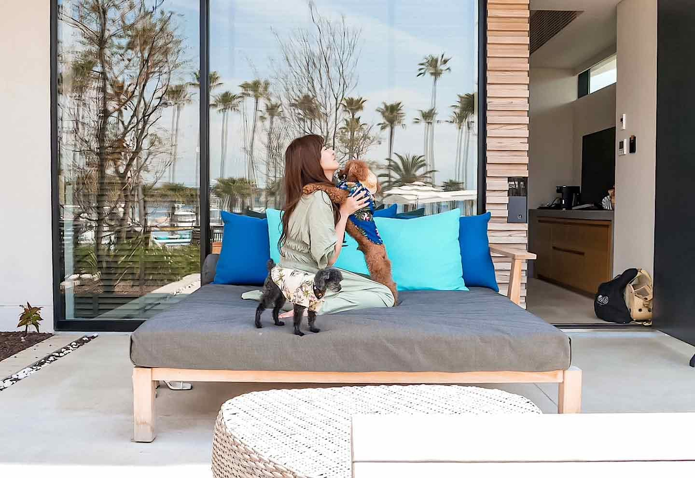 『MALIBU HOTEL』の「ドッグフレンドリールーム」 テラスベッド