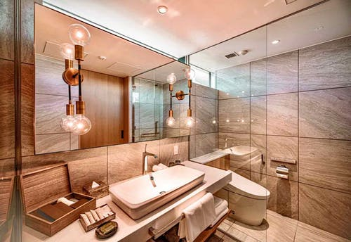 『MALIBU HOTEL』の「ドッグフレンドリールーム」 バスルーム