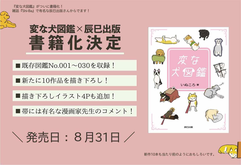 変な犬図鑑 書籍化決定 辰巳出版