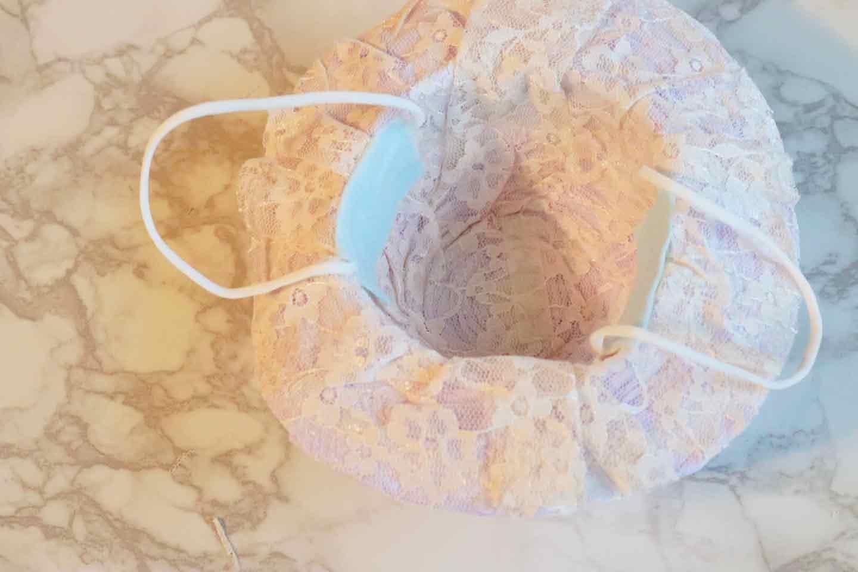 100均の紙紐で作れる 愛犬用麦わら帽子 フェルトで紐を補強