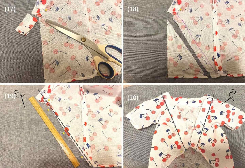 超簡単な愛犬用の浴衣の作り方 裾の処理