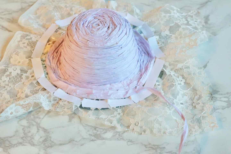 100均の紙紐で作れる 愛犬用麦わら帽子 作り方