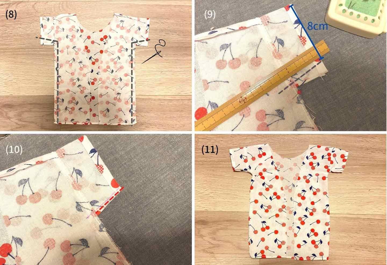 超簡単な愛犬用の浴衣の作り方 裁縫 本体を組み合わせる
