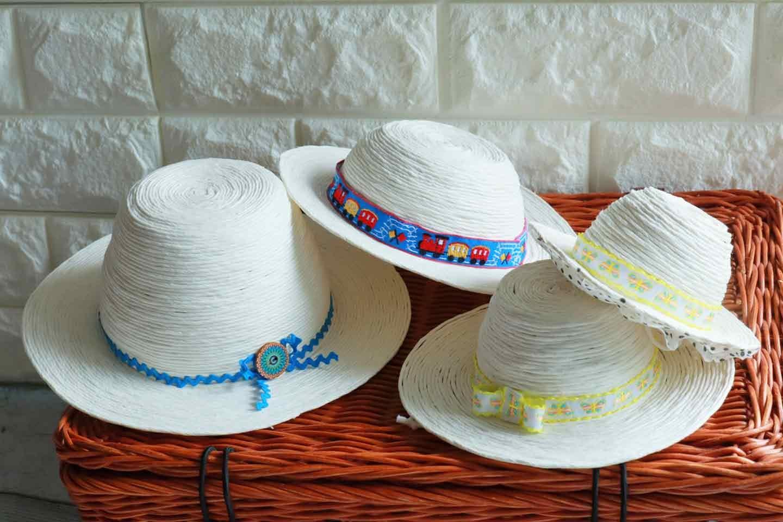 100均の紙紐で作れる 愛犬用麦わら帽子 完成
