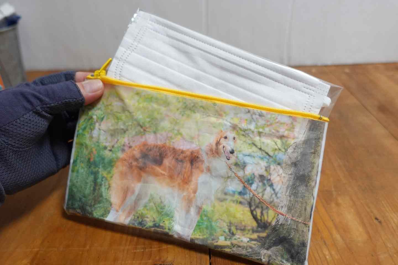 【簡単貼るだけ】愛犬デザインのマスクケースの作り方!100均のカード入れが世界に一つだけのアイテムに♪